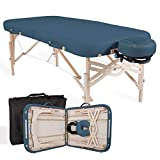 """EARTHLITE Premium Portable Massage Table Package Spirit - Spa-Level Comfort, Deluxe Cushioning incl. Flex-Rest Face Cradle & Strata Face Pillow, Carry Case (30/32"""" x 73"""") - Made in USA"""