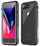 iPhone 7 Plus Waterproof Case,iPhone 8 Plus Waterproof Case. Oterkin Full Body 360° Protective Shockproof Dirtproof Sandproof IP68 Phone Case for iPhone 7 Plus/iPhone 8 Plus(5.5') (Black/Grey/Clear)