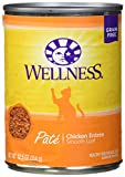 Wellness Complete Health Natural Grain Free Wet Canned Cat Food, Chicken Recipe, 12.5-Ounce Can (Pack of 12)