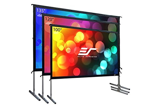 Elite Screens Yard Master 2, 100 inch Outdoor Projector Screen with Stand 16:9, 8K 4K Ultra HD 3D Fast Folding Portable Movie Theater Cinema 100' Indoor Foldable Easy Snap Projection Screen, OMS100H2
