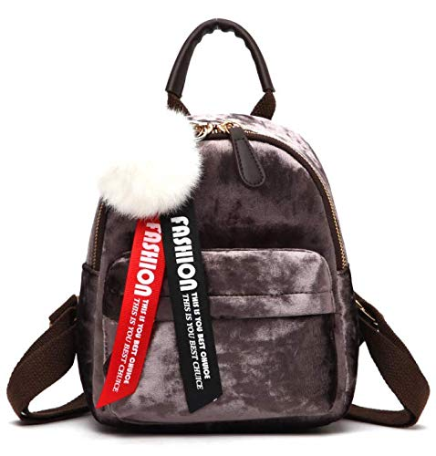 41NWc1TA3gL - MOCA Cute Mini Small Women Backpacks Womens Kids Girls Soft Velvet Stylish Trendy Travel Outdoor College Bags Small Mini Rucksack Backpack Back Bag Pack bagpack for Womens Girls