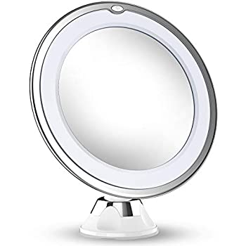 Essential Accessory for Make-up, Shaving and Facial Care The Vimdiff vanity mirror illuminates with natural LED light to give you just the right amount of natural light you need to look your best. 10X magnification is great for everything from touchi...