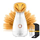 ECVISION Nano Ionic Warm Mist Facial Steamer Hot Mist Moisturizing Cleansing Pores Face Steamer...