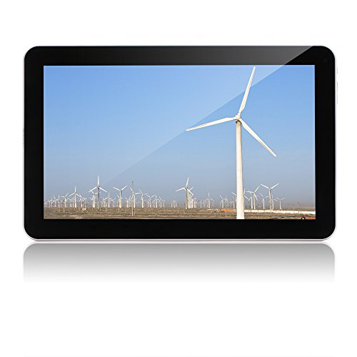 10.1' Tablet Google Android 6.0,Quad Core 1.3Ghz,Dual Camera, Bluetooth 4.0, 1GB/8GB, WiFi,GMS Certified with One Year Warranty,iRULU eXpro X1 Plus (X1Plus)-X10,Black Front and White Rear