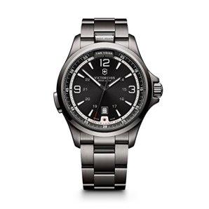 Victorinox Men's 241665 Swiss Army Night Vision Dark Grey Dial Black Ice PVD Steel Watch