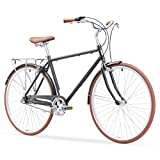 sixthreezero Ride In The Park Men's 3-Speed Touring City Bike, 700x32c Wheels/ 18' Frame, Grey, 18'/One Size