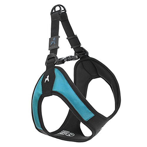 Gooby - Escape Free Easy Fit Harness, Small Dog Step-In Harness for Dogs that Like to Escape Their Harness, Turquoise, Small