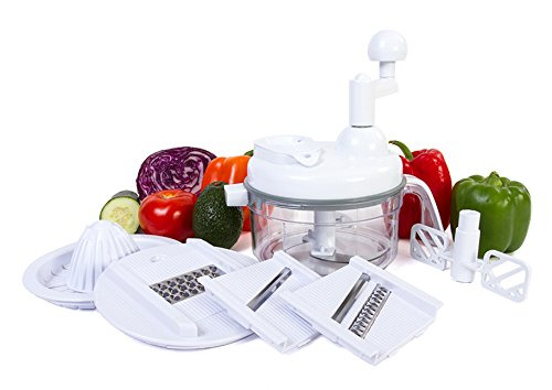Ultra Chef Express Food Chopper – 7 in 1 Chopper, Mixer, Blender, Whipper, Slicer, Shredder and Juicer