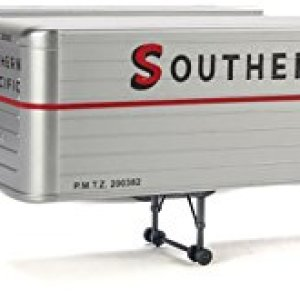 Walthers HO Scale 35′ Fluted-Side Trailer 2-Pack Southern Pacific/SP (Silver) 41Nn 2BrsBm2L