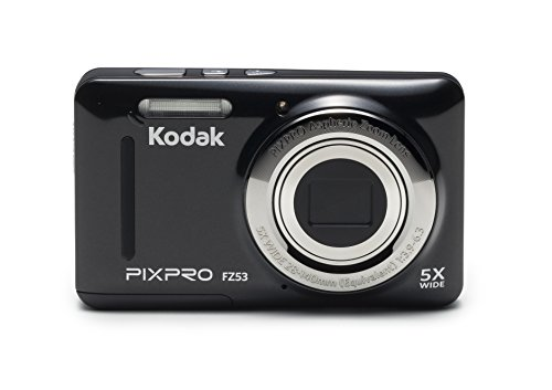 Kodak PIXPRO Friendly Zoom FZ53-BK 16MP Digital Camera with 5X Optical Zoom and 2.7' LCD Screen (Black)