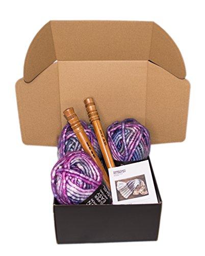 Chunky Knit Blanket DIY Kit, Super Soft...