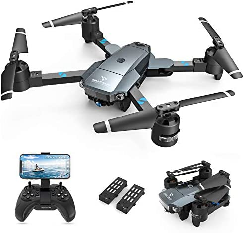 SNAPTAIN A15H Foldable Drone with 1080P HD Camera FPV WiFi RC Quadcopter for Beginners, Optical Flow Positioning, Voice Control, Gesture Control, Trajectory Flight, Circle Fly, 3D Flips, G-Sensor