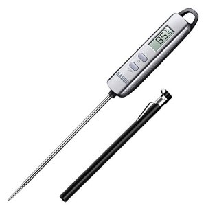 Habor 022 Meat Thermometer, Instant Read Thermometer Digital Cooking Thermometer, Candy Thermometer with Super Long Probe for Kitchen BBQ Grill Smoker Meat Oil Milk Yogurt Temperature 41NxVj26YCL