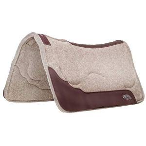Weaver Leather Contoured Shock-Absorbing Gel Wool Blend Saddle Pad