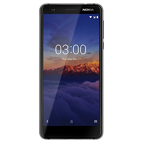 Nokia 3.1 - Android 9.0 Pie - 16 GB - Dual SIM Unlocked Smartphone (AT&T/T-Mobile/MetroPCS/Cricket/Mint) - 5.2' Screen - Black - U.S. Warranty