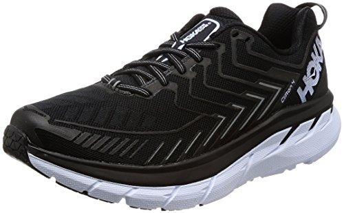 HOKA ONE ONE Men's Clifton 4 Running Shoe Castlerock/Atomic Blue Size 9 M US