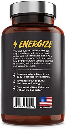Get Into Keto - Exogenous Ketone Beta Hydroxybutyrate (BHB) for Men and Women - Supercharge Ketosis & Manage Cravings, 60 ct 5