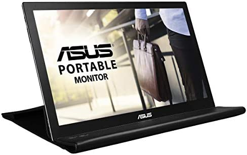 """ASUS 15.6"""" 1080P Portable Monitor (MB169B+) - Full HD, IPS, Auto-rotatable, Smart Case, Ultra-slim, Lightweight, Sleek, USB 3.0 Powered, For Laptop, PC, Phone, Console 18"""