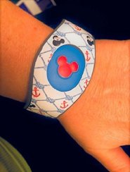 Disney MagicBand Decal Sticker Skins Cruise Nautical Themed With Red Mickey Head for Magic Band 2.0