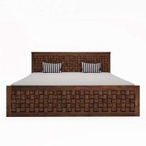 Loom-Needles-Siesta-Pure-Sheesham-King-Size-Storage-Bed-Teak-Color-78-x-72-inches