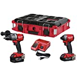 Milwaukee 2997-22CXPO Lithium-Ion Cordless Brushless Hammer Drill/Impact Combo Kit, Red