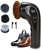 Electric Shoe Polisher Handheld Shoe Shine Kit, Electric Shoe Buffer Brush Shoe Shiner Dust Cleaner Portable Wireless Leather Care Kit for Shoes, Bags, Sofa (Shoe Polishers)