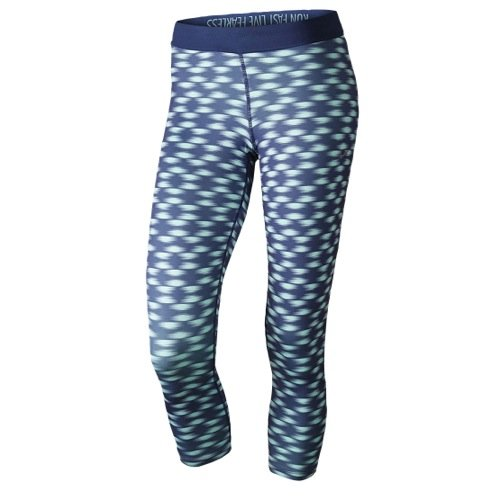 "41Oa7RuVl%2BL ace to the finish. These women's Nike Relay crop leggings feature Dri-FIT fabric, flat seams and a fitted design for cool, lasting comfort. Perfect for high-impact exercise Moisture-wicking technologyArticulated gusset ""Run Fast Live Fearless"" graphic on foldover waistband Reflective Swoosh logo Polyester, spandex Machine wash Imported"
