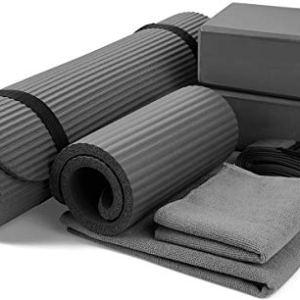 BalanceFrom GoYoga 7-Piece Set - Include Yoga Mat with Carrying Strap, 2 Yoga Blocks, Yoga Mat Towel, Yoga Hand Towel… 12
