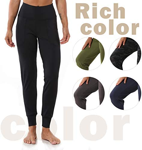 Mesily Women's Athletic Joggers High Waist Sweatpant Yoga Pant with Pockets for Workout Running 5