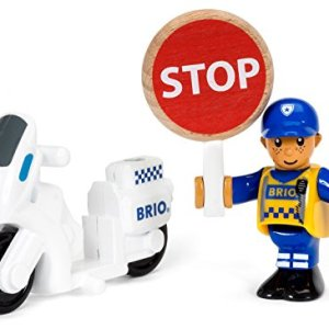 Brio World – 33861 Police Motorcyclist | 3 Piece Toy for Kids Ages 3 and Up 41OjAB2qa1L