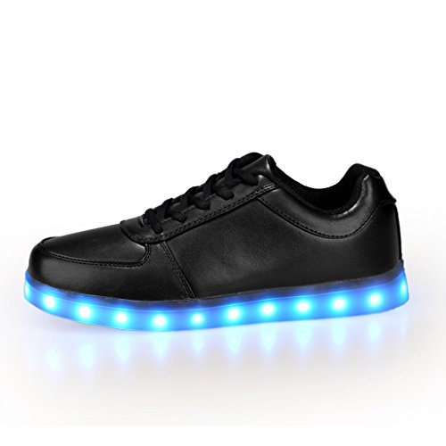 Pet With Me 7 Colors USB Charging LED Lighted Luminous Couple Casual Sport Shoes Sneakers for Unisex Men Women Comfortable