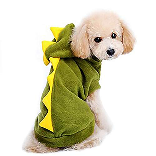 Petea Pet Clothes Dog Dinosaur Hoodie Clothes Puppy Cute Sweater Apparel for Dogs and Cats 1