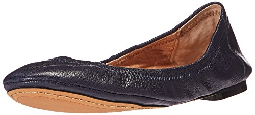 71ZVVQeZFVL Slip-on ballet flat made with full-grain leather and elasticized topline Leather lined If you are between sizes, 206 Collective recommends sizing up.