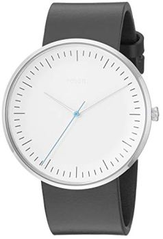 Fossil Men's The The Essentialist Stainless Steel Quartz Leather Strap, Black, 22 Casual Watch (Model: FS5471)