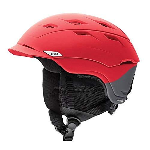 Smith Optics Variance Adult Mips Ski Snowmobile Helmet - Matte Fire Split/Large