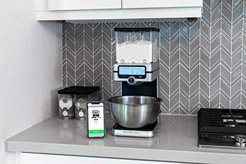 PantryChic Smart Storage System - Starter Kit - Automatically Measures & Dispenses from Storage Containers with Digital Scale Accuracy - Kitchen & Pantry Organization & Storage