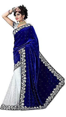 Navabi Export Women's Kanchipuram Velvet Saree With Blouse Piece
