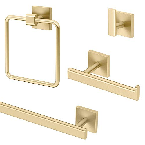 Gatco-KA-ELE-4-BB-Elevate-4-Piece-Bathroom-Accessory-Kit-Brushed-Brass
