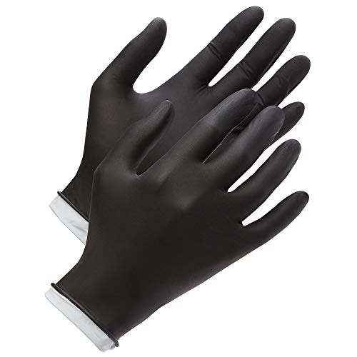 Venom Steel Nitrile Gloves, Rip Resistant Disposable Latex Free Black Gloves, 2 Layer Gloves, 6 mil Thick,  Medium (Pack of 100) deal 50% off 41PFSmDZcPL