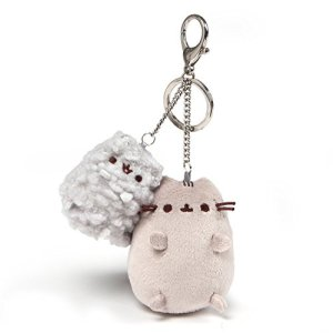 GUND Pusheen and Stormy Plush Deluxe Keychain Clip, Gray, 4.5″ 41PGx6hnpQL
