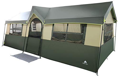Spacious and Comfortable Ozark Trail Hazel Creek 12 Person Cabin Tent,with...