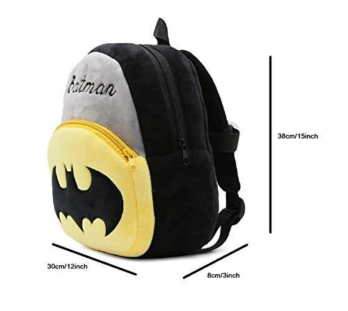 41PIWbaZFIL - Black Hill Cute Kids Backpack Toddler Bag Plush Animal Cartoon Mini Travel Bag for Baby Girl Boy 1-6 Years (Batman)