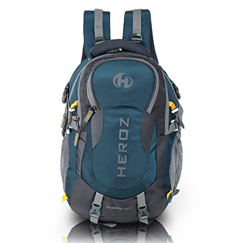 41PKN2MWC3L - HEROZ Hammer Unisex Nylon 45 L Travel Laptop Backpack Water Resistant Slim Durable Fits Up to 17.3 Inch Laptop Notebook (All) (Grey & A. Blue 1000)