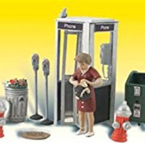 Woodland Scenics Street Accessories (Benches, Fire Hydrants, Parking Meters etc.) 41PLRYh0aKL