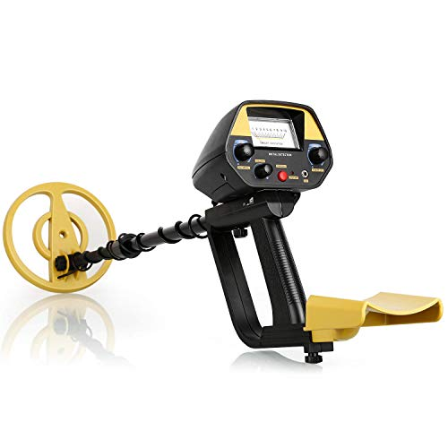 INTEY Metal Detector for Kids and Adults with Pinpoint Function High Accuracy Metal Finder with Waterproof Search Coil (Yellow 1)