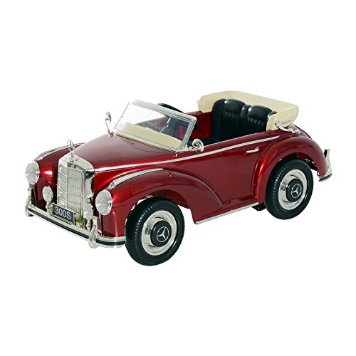 Aosom 12V Mercedes Benz 300S Kids Electric Ride On Car with MP3 and Remote Control - Red