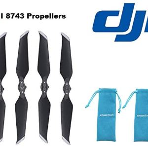 2 Pair Genuine DJI Mavic 2 Low-Noise Propellers for Mavic 2 Zoom and Mavic 2 Pro Drone with 2 Amazetech Propeller Bag 41PP8mcDiDL