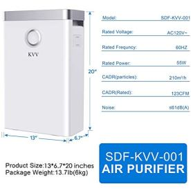 KVV-Air-Purifier-with-True-HEPA-Air-Filter-Air-Purifier-for-Bedroom-for-Spaces-Up-to-800-Sq-Ft-Perfect-for-HomeOffice-with-Composite-Filter