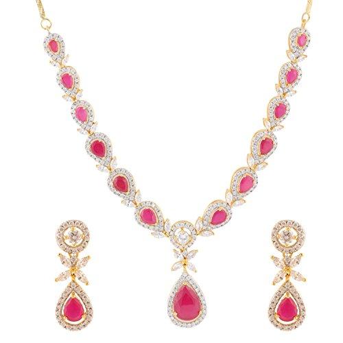 Swasti-Jewels-American-Diamond-CZ-Zircon-Fashion-Jewellery-Set-Necklace-Earrings-for-Women