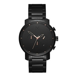 MVMT Chrono Watches | 45 MM Men's Analog Watch Chronograph | Black Rose Link